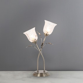 Lindy 2 Light Antique Brass Table Lamp