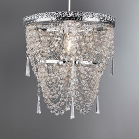 Lois Chrome Draped Chandelier Pendant