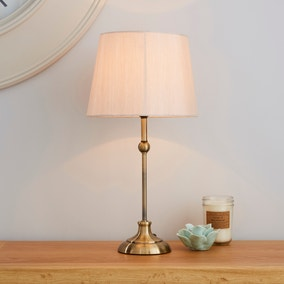 Metal Antique Brass Ball Table Lamp
