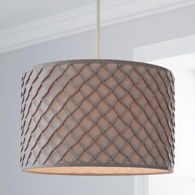 Nancy Grey Fabric Ceiling Light Shade