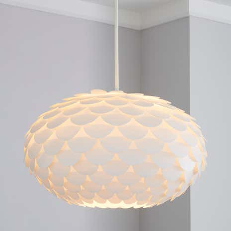 Lamp shades decorative light shades dunelm priya white ceiling light pendant mozeypictures Gallery