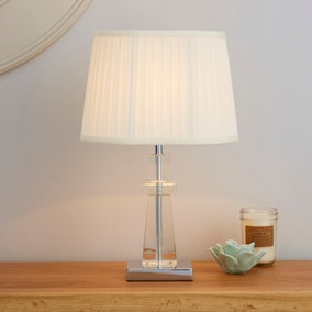Pyramid Cream Table Lamp