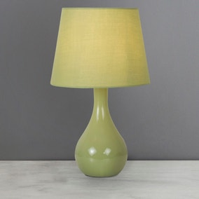 Ruby Green Table Lamp