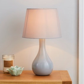 Ruby Grey Table Lamp