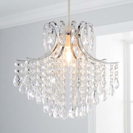 Lamp shades decorative light shades dunelm sheridan clear beads pendant mozeypictures Image collections