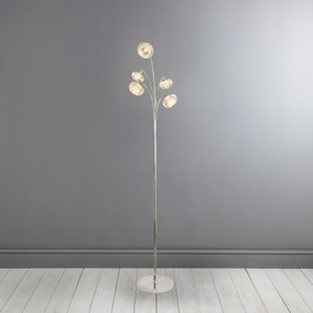 Sofia Chrome 5 Light Floor Lamp