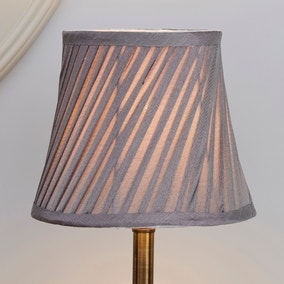 Twisted Pleat Grey Light Shade