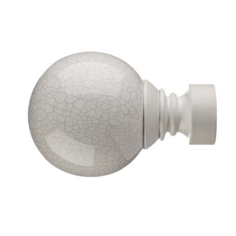 Mix and Match Dia. 28mm White Crackled Ceramic Ball Finials