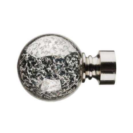 Mix and Match Dia. 28mm Satin Steel Mercury Glass Ball Finials