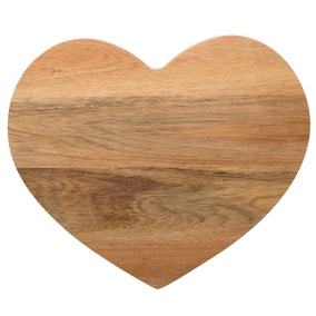 Acacia Heart Chopping Board