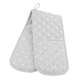 Dotty Grey Double Oven Glove