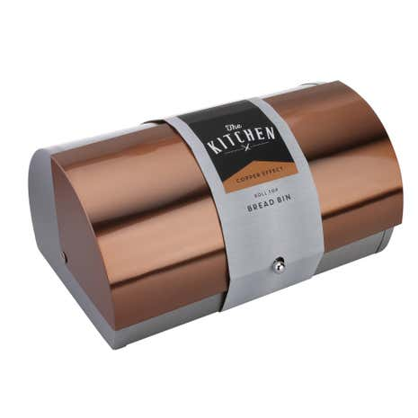 Copper Effect Bread Bin