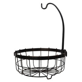 Dunelm Black Fruit Basket With Banana Hook
