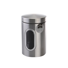 Brushed Steel Storage Canister