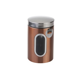 Copper Effect Storage Canister