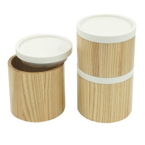 Elements Set of 3 Stacking Canisters