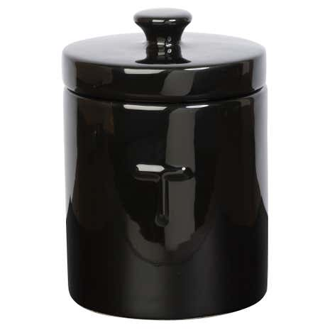 High Gloss Embossed Tea Canister