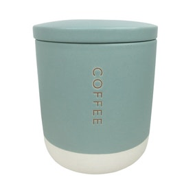 Honesty Embossed Two Tone Coffee Canister