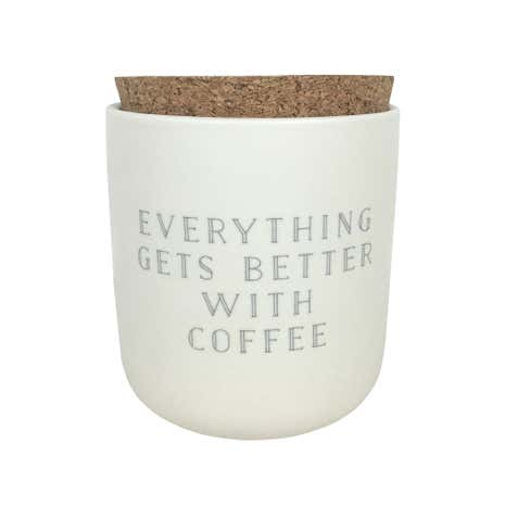 Honesty Words Coffee Canister