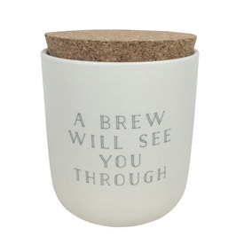 Honesty Words Tea Canister