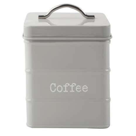 Housekeeper Grey Coffee Canister