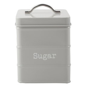 Housekeeper Grey Sugar Canister