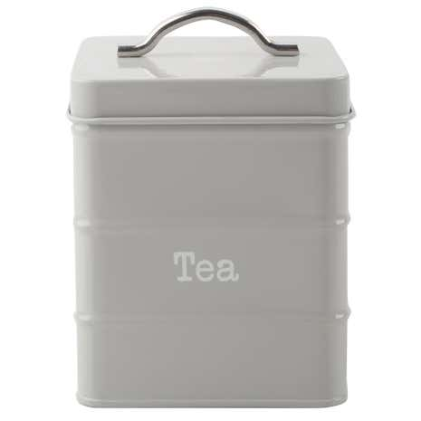 Housekeeper Grey Tea Canister