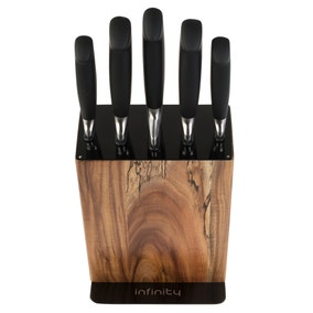 Infinity Stainless Steel 5 Piece Knife Block