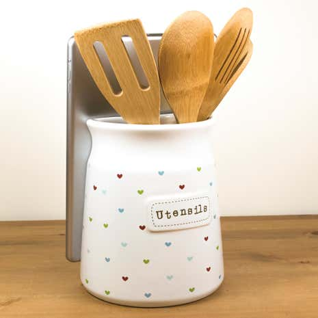 Sweethearts Utensil Pot and Tablet Stand