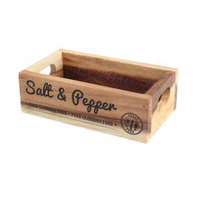 T&G Rustic Salt and Pepper Crate Box