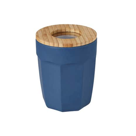 Navy Bamboo Canister