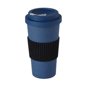 Navy Bamboo Travel Mug