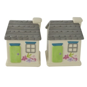 Cottage Salt and Pepper Shakers