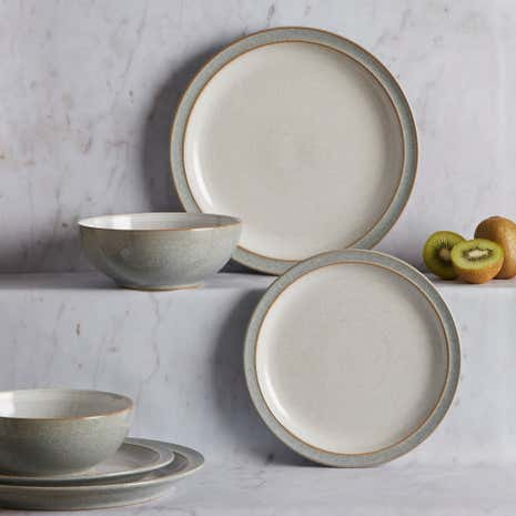 Denby Elements Grey 12 Piece Dinner Set