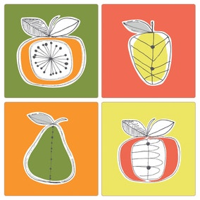 Elements Fruit Pack of 4 Placemats