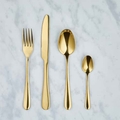 Gold 16 Piece Cutlery Set