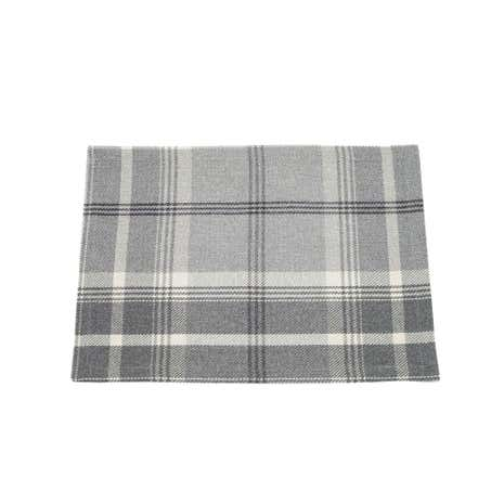 Highland Pack of 2 Grey Check Placemats