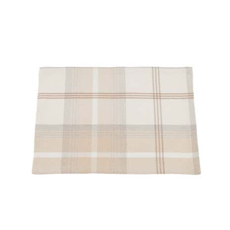 Highland Pack of 2 Natural Check Placemats