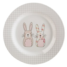 Katy Rabbit Melamine Dinner Plate