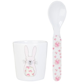 Katy Rabbit Melamine Eggcup and Spoon Set