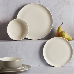 Manhattan 12 Piece Matte Grey Dinner Set