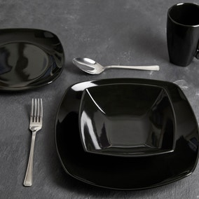 Pausa 16 Piece Black Dinner Set