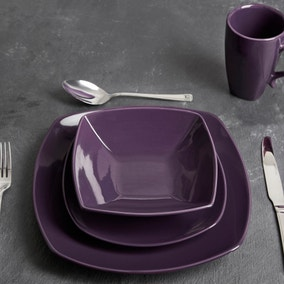 Pausa 16 Piece Purple Dinner Set