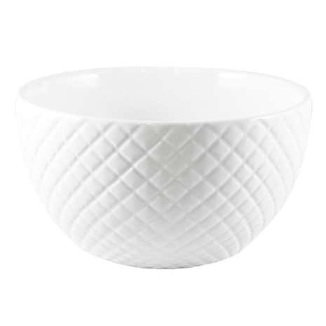 Quilted White Bowl