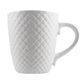 Quilted White Mug