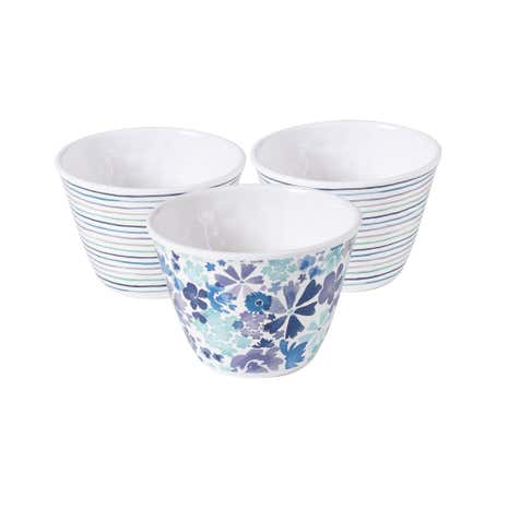 Scattered Flowers Pack of 3 Small Bowls