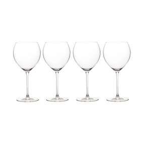Elegance Pack of 4 Burgundy Wine Glasses
