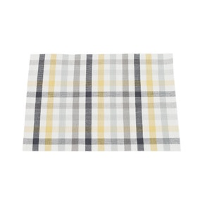 Pack of 2 Ochre Check Placemats