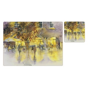 Sunset Cafe placemats and coasters 8pk