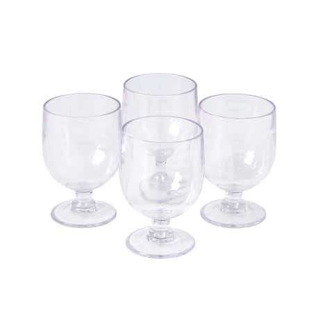 Clear Wine Stacking Acyrilic Glasses